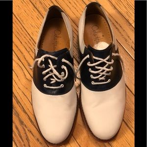 Cole Haan Two Tone White and Navy Shoes
